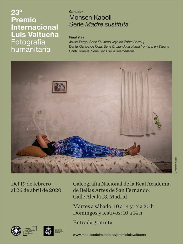Cartel Exposición Premio Luis Valtueña 2019 en la Calcografía Nacional, Madrid.