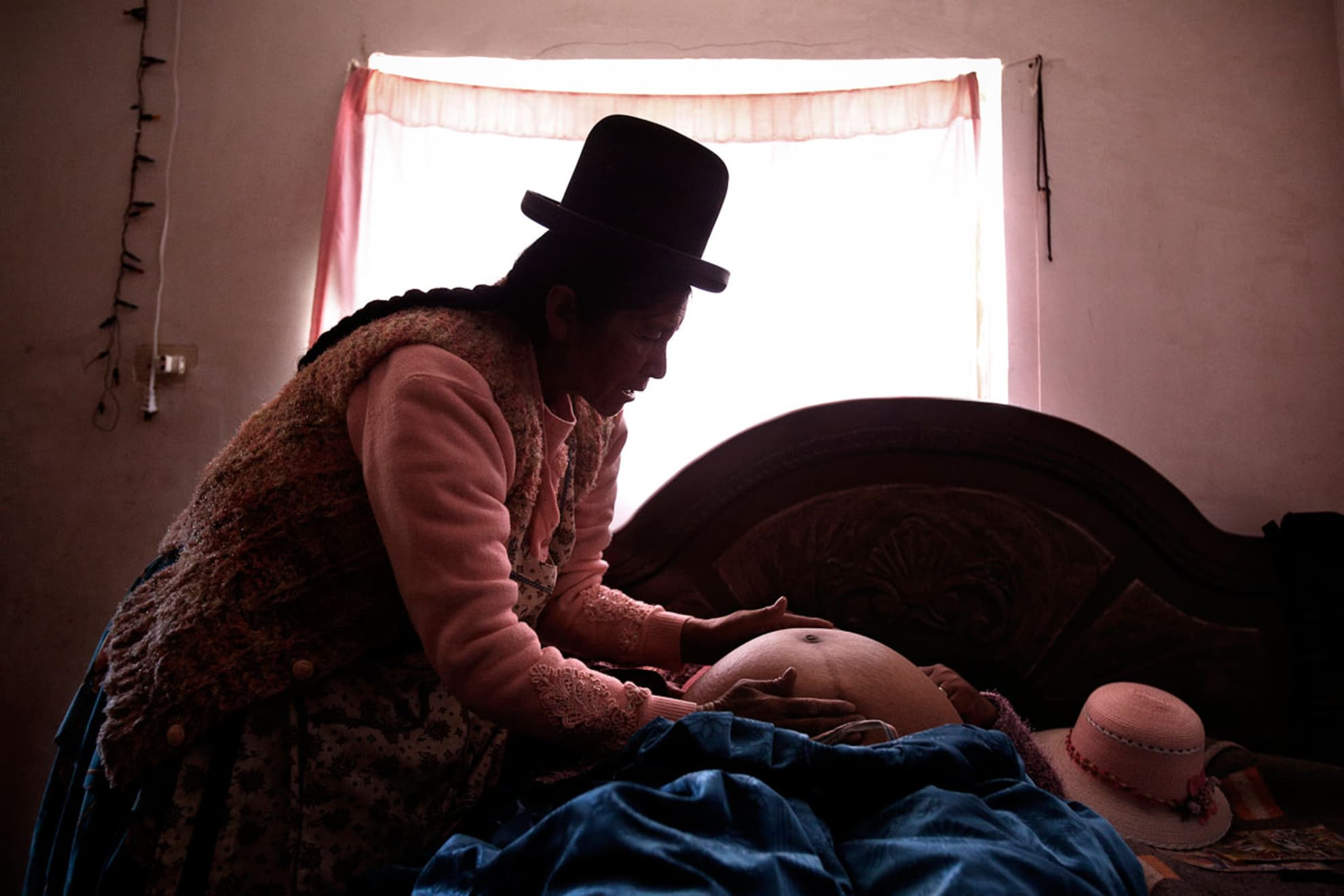 Midwife Leonarda Quispe Rojas, 60, in the traditional medicine laboratory at her home.