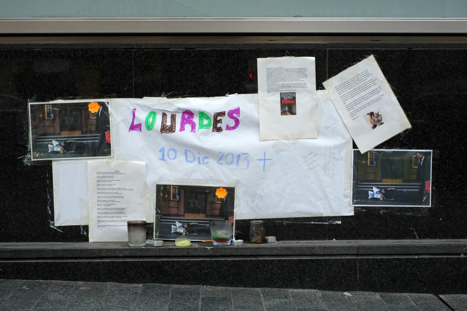 """Benetton"" Suite. Ephemeral Memorial to Lourdes Vilches. Madrid."