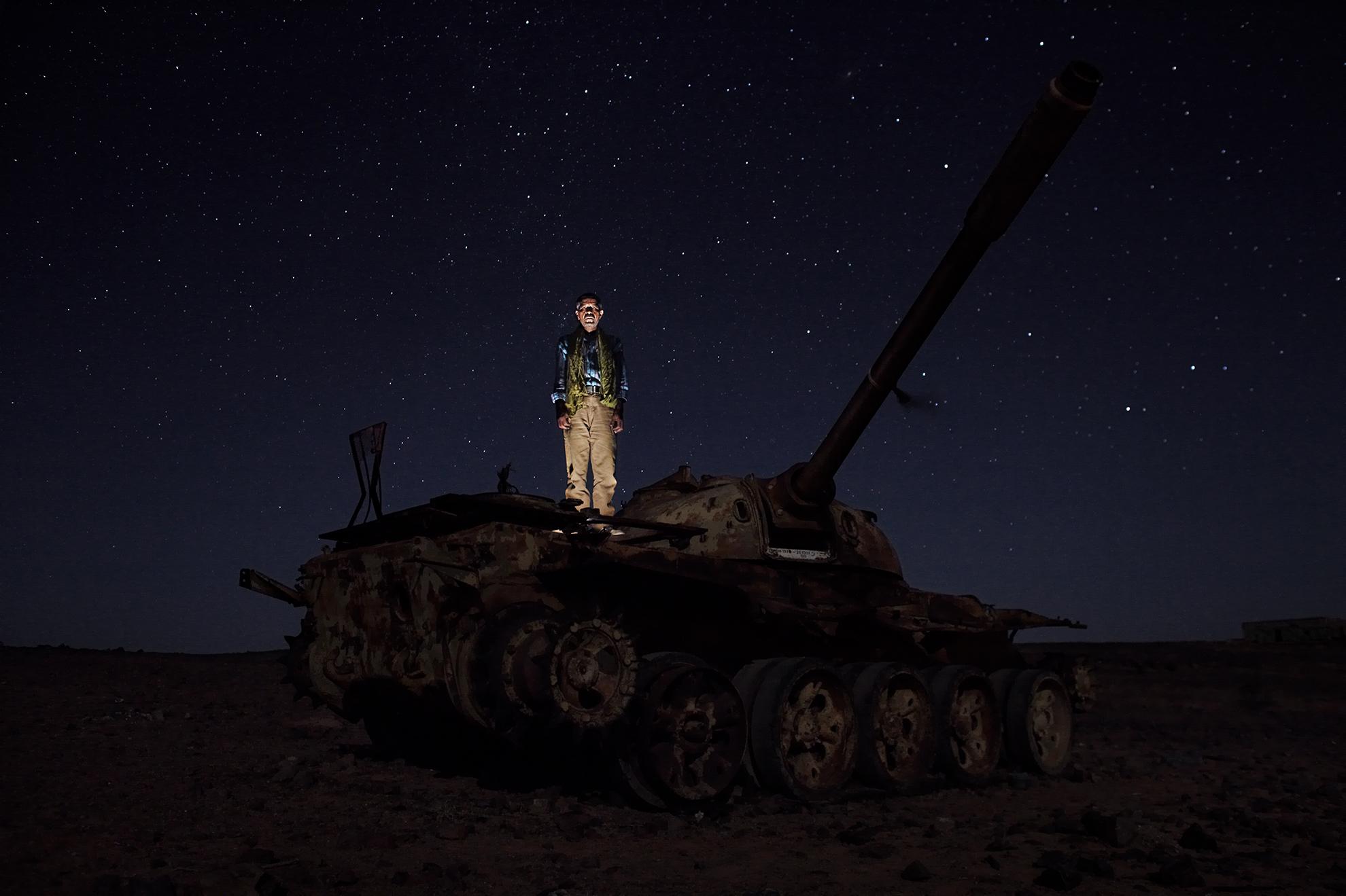 Hamdi Jaafar Mohammed, 46 años. Soldado del Frente Polisario, fotografiado en Tifariti, en el Sáhara Occidental controlado por el Polisario (República Árabe Saharaui Democrática).